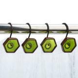 La conception à six pans de la Résine peinte à la main d'une douche Crochets pour décoration maison