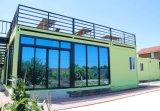 Casa modular Prefab do recipiente do bloco liso