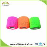 Consommables médicaux main Non-Woven Tear Latex coloré Bandage cohésif