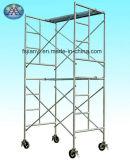 二重幅の足場建築構造5mの望遠鏡の縦の軽量の梯子