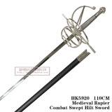 Swordmedieval Commanding spagnolo Rapiercombat ha scopato la spada 110cm HK5920 dell'elsa