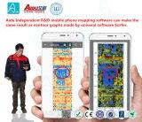 détecteur de fuite sifflant de l'eau de détecteur de barrage de téléphone mobile de Portable de 0-60m