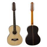 Guitare acoustique acoustique de 12 chaînes de caractères d'instruments de musique en gros