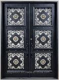 Hersteller-China-direkter Preis-bearbeitetes Eisen-Haustür-Außeneintrag-Metalltüren (EI-027)