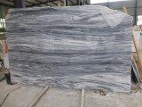 Laje grande de mármore branca da veia de mármore do preto da laje