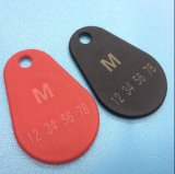 Pera di nylon impermeabile RFID Keychain di NFC NTAG213 Overmolded