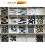 De nieuwe Fabriek van het Mozaïek van de Vorm van het Blad van het Ontwerp Kleurrijke Ceramische (C655033)
