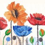 زخرفيّة [أيل بينتينغ] [هندمد] زرقاء زهرة فنية منزل زخرفة