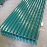 Corrugated металл цвета настилая крышу волнистые листы крыши PPGI/PPGL