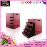 Gros Cube imitation cuir Boîte cosmétiques pour la maison (8161)