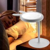 拡大LEDによってつけられる構成ミラー、強い吸引のコップが付いている浴室の虚栄心ミラーは、360度、電池式日光カラーを回す