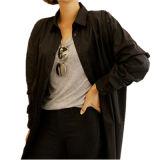 Cappotto lungo del Levare in piedi-Collare casuale delle donne di colore