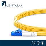 Cuerda de corrección óptica a dos caras unimodal de fibra de LC-FC