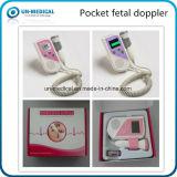 熱ポケット胎児の心拍数ドップラー(2つのカラー: ピンクか紫色)