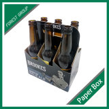 Six transporteurs de empaquetage ondulés de boîte à vin de bière de bouteilles de paquet