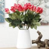 لمس حقيقيّة أحمر أبيض وزرقاء اصطناعيّة [روس] زهرات