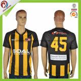 Le football thaï Jersey de générateur de chemise du football de qualité de qualité de fabrication d'équipe de créateurs de sport de club de sublimation sèche neuve faite sur commande d'ajustement