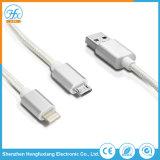 3 en 1 Câble de chargement de données USB pour téléphone mobile