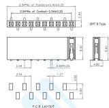 Bonne qualité 2,54 pitch H: 8.5mm U type embase femelle du connecteur