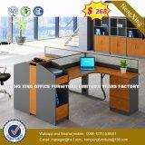 Armoire en bois moderne de verre aluminium / bureau de poste de travail Partition (HX-8N0231)