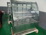 Vetrina del frigorifero del refrigeratore della visualizzazione della torta con acciaio inossidabile