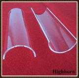 Placa de cristal cristalina transparente de pulido de cuarzo del arco