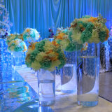 Soporte de visualización de acrílico redondo de la flor de la boda