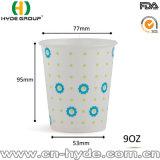 9 Oz recubierto de PE doble bebida fría vaso de papel para el zumo