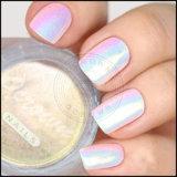 Pigmento do pó de Mermeid do polonês de prego do arco-íris de Holo do espelho do cromo da Aurora