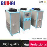 최신 판매 3HP 플라스틱 가공 필드 산업 냉각장치를 위한 공기에 의하여 냉각되는 냉각장치 8.39kw/2.5ton 냉각 수용량 7216kcal/H