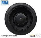 250mm à rotor externe en plastique PA66 Ventilateurs centrifuges incurvée vers l'arrière du rotor