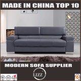 Sofá suave de la piel artificial de los muebles de madera modernos