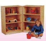 専門の木の本棚はからかう家具の販売(HB-03904)のための就学前の教室のキャビネットを