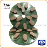 12 ovale Tanden 10mm Oppoetsend Stootkussen van de Schijf van de Plaat van de Dikte Oppoetsend Oppoetsend voor Natuurlijke Steen