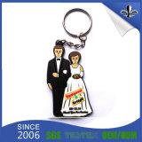 PVC macio Keychain do presente de casamento de Customzied da boa qualidade