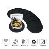 8 PCSの新しい高品質の耐久の反滑るシリコーンの飲み物のコースターのセット