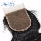 Chiusura pura del merletto dell'onda del corpo dei capelli umani del Virgin di 100%