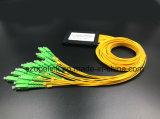 Divisore del PLC di telecomunicazione 1X16 di Gpon del cavo ottico della fibra con il connettore Sc/APC