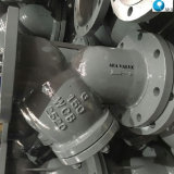 中国のステンレス鋼はタイプフィルターこし器の製造業者鋼鉄ノズルが付いているYのフランジを付けたようになった
