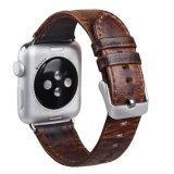 Courroie en cuir de cheval de rechange folle de cuir pour la bande de montre d'Apple