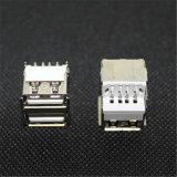 Plooiende Rechte PCB van de Laag van de Flens Dubbele zetten Schakelaar USB op