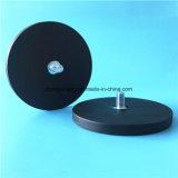 Montagem magnética do copo da sução do carro do ímã revestido de borracha de Gopro do potenciômetro