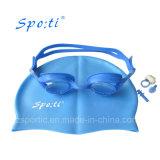 De geavanceerde Zwemmende die Beschermende bril van Cbombo van het Silicone voor Volwassene wordt geplaatst