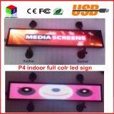 Testo programmabile dell'interno LED RGB di Scrolling di sostegno di immagine della visualizzazione dell'automobile che fa pubblicità alla visualizzazione