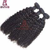 Le double brésilien d'armure de cheveu de Remy de Vierge noient l'armure crépue d'enroulement de cheveux humains