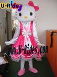 costume dentellare della pelliccia di Mascott del carattere del gatto del kate per l'evento ed il partito