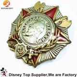 Pin militare del distintivo dell'indumento della polizia su ordinazione della Russia della fabbrica della Cina
