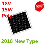 el panel solar polivinílico de 18V 15W para el sistema 12V (2018)
