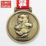 安い方法カスタム旧式な青銅色の銅のロゴの金属賞メダル