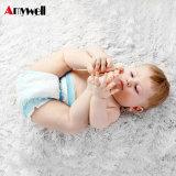 高品質の幼児新生の赤ん坊のおむつの赤ん坊によって折られるおむつのための通気性の吸収の綿のおむつ